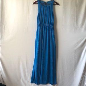 Forever21 Side Split Maxi Blue Dress